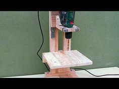 Ev Yapımı Matkap Sehpası - / 4 in 1 Drill Press Build - The Drill Press / Homemade Woodworking Projects For Kids, Woodworking Plans, Ladder Chair, Drill Guide, Shop Storage, Drill Press, Garage Workshop, Dremel, Wood Carving