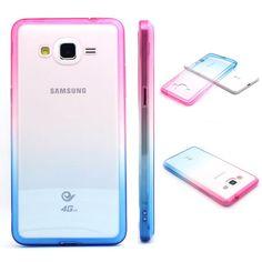 JIAXIUFEN Hontpink and Blue Gradient TPU Gel Silicone Protettivo Skin Custodia Protettiva Shell Case Cover Per Samsung Galaxy Grand Prime G530/G530H/G530FZ/G5308W/G5309W/G5306W: Amazon.it: Elettronica