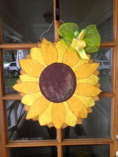 Sunflower Burlap Door Hanger