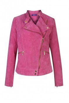 Замшевая куртка розовая