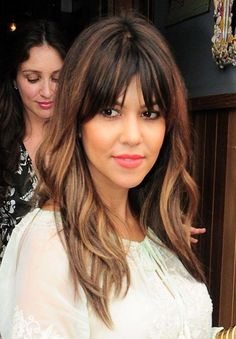 Long Layered Ombre Hairstyle With Bangs