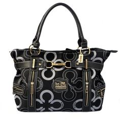 Look Here! Coach Poppy C Signature Large Black Satchels EKG Outlet Online