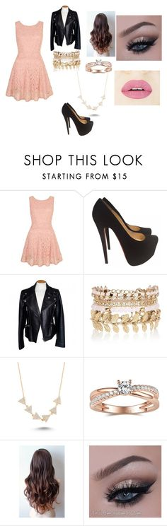 """Untitled #2"" by heldridge on Polyvore featuring Yumi, Christian Louboutin, Alexander McQueen, River Island, Amorium, women's clothing, women, female, woman and misses"