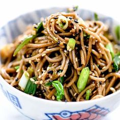 This Japanese soba noodle recipe makes a simple Asian side dish or easy main meal that can be served hot or cold, and is on the table in 20 minutes or less. Buckwheat Soba Noodle Recipe, Japanese Soba Noodle Recipe, Japanese Soba Noodles, Buckwheat Noodles, Noodle Recipes, Seafood Recipes, Vegetarian Recipes, Healthy Recipes, Simple Recipes