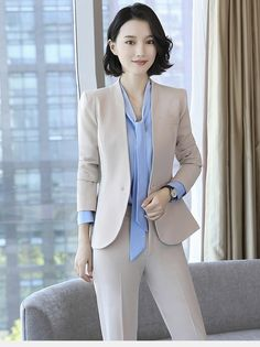 Beautiful office uniform form 2017 – Photo 5 – Best Of Likes Share Office Outfits Women, Stylish Work Outfits, Classy Outfits, Cool Outfits, Queen Fashion, Suit Fashion, Work Fashion, Fashion Outfits, Work Dresses For Women