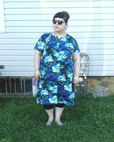 What I Wore // Blue Florals In Summer - That Darlin' Marie