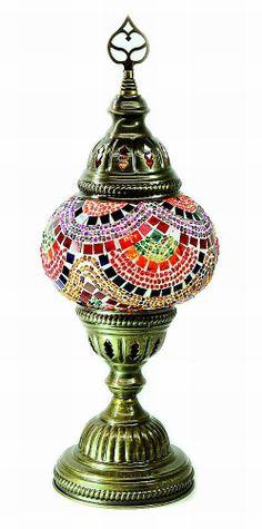 Glass Mosaic Lamp (small)-6 - Nazar Turkish Imports
