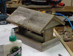Rustic Weathered Cedar  Hanging Bird Feeder by SwampwoodCreations, $25.00