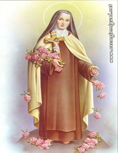 Religious Pictures, Religious Icons, Religious Art, Catholic Art, Catholic Saints, Patron Saints, Sainte Therese De Lisieux, Ste Therese, Holy Mary