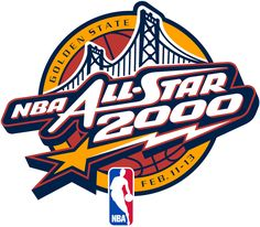 NBA All-Star Game Basketball Primary Logo (2000) - 2000 All Star Game at Oakland