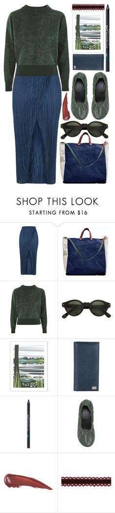 """suede jumper, plisse skirt"" by foundlostme ❤ liked on Polyvore featuring Topshop, McLovebuddy, Hakusan, Dolce&Gabbana, Urban Decay and MM6 Maison Margiela"