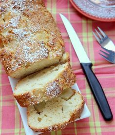 Pears and brandy cake