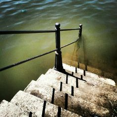 Szamos - stairs to the river