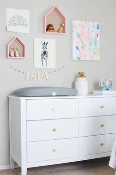 Pink Gold Blue Swan Baby Girl Nursery Ideas Nursery Design