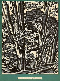 Ethelbert White (English, 1891-1972). The Wooded Path. 1930. (wood engraving)