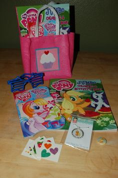 My Little Pony gift bags! Necklaces from simplycutetoo on Etsy.