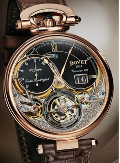 Bovet Virtuoso VIII 10 Jours Tourbillon Volant Big Watch Date Montre Releases Amazing Watches, Beautiful Watches, Cool Watches, Stylish Watches, Luxury Watches For Men, Casual Watches, Skeleton Watches, Expensive Watches, Seiko Watches