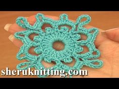 Crochet Square Motifs Tutorial 7 Part 1 of 2 Crochet carrés Motifs - YouTube