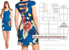 moldes de vestidos de verão modelo estilo japonês