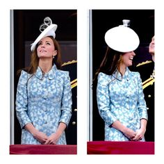 The Duchess of Cambridge on the Buckingham Palace balcony for Trooping the Colour 2015.