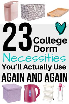 23 College Dorm Necessities Youll Actually Use (Again and Again) College Dorm Decorations college Dorm Necessities Youll College Dorm Necessities, College Dorm Essentials, Room Essentials, Designers Guild, College Dorm Checklist, College Tips, College Must Haves, College Planner, College Humor