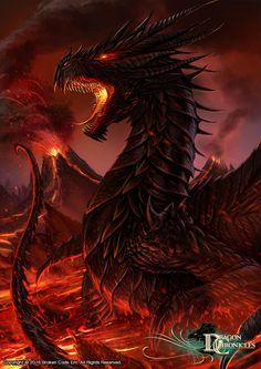 Black Dragon  #DragonChronicles - #Art #BlackDragon #Fantasy #DeviantArt #Fire…