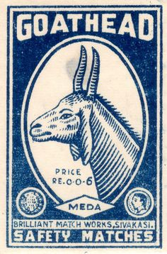AstroSpirit / Capricorn ♑ / Earth / Goathead Safety Matches Vintage Matchbox