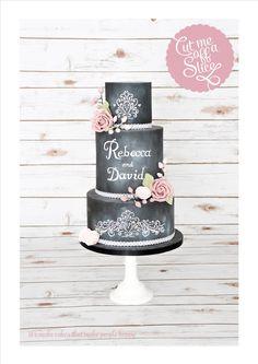 chalkboard wedding cakes - Google Search