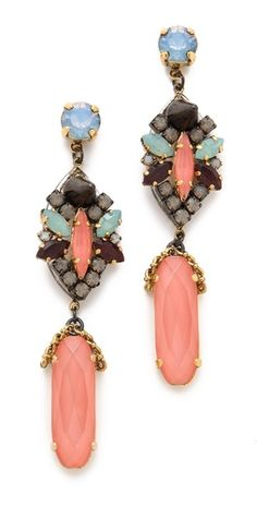 Erickson Beamon Pretty in Punk Drop Earrings