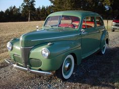 1941 Ford Deluxe V-8...ideal family car of the time...