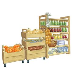 Turn your pantry or basement into a portable storehouse with fresh crops stashed in these stackable produce storage bins. The plans offer two versions of DIY storage bins: tall and short. Best of all, these pantry storage containers can be easily moved from the garden to the house and back again.data-pin-do=
