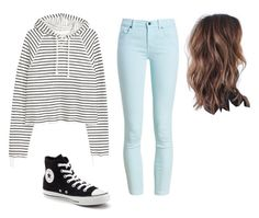 """""""School"""" by kellyakb ❤ liked on Polyvore featuring Barbour and Converse"""