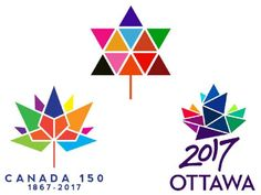 Canada Centennial 1967 logo (top), Canada 150 logo (bottom left) and 2017 Ottawa logo (bottom right) Quilting Templates, Quilting Projects, Quilting Designs, Flag Quilt, Quilt Blocks, Canada 150 Logo, Canada Eh, Paper Piecing Patterns, Quilt Patterns