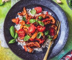 Paella, Meat, Chicken, Ethnic Recipes, Food, Essen, Meals, Yemek, Eten