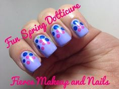 VIDEO TUTORIAL: Easy spring Doticure!  Check out my blog for more info: www.fiercemakeupandnails.com  Twitter: https://twitter.com/norelis  Facebook Fan Page: https://www.facebook.com/pages/Fierce...  Instagram: http://instagram.com/fiercemakeupandn...    Nail polishes used.....  Lollipop! Goes the Princess  Cast a Spill on You  Magic Mani Bus   You're My Lacquer Charm
