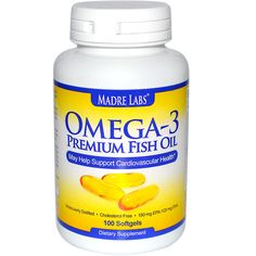 Madre Labs, Omega-3 Premium Fish Oil, 100 Softgels