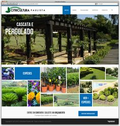 Criação de Site Responsivo para a floricultura Citricultura Paulista de Betim - página inicial