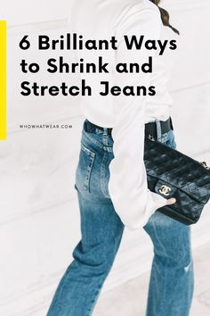 Jeans don't fit anymore? Don't worry—we've rounded up the best tricks to shrink or stretch your favorite pair of denim. Old Jeans, Jeans Fit, Jeans Too Tight, Shrink Jeans, How To Shrink Clothes, How To Make Jeans, Repair Jeans, Stretch Denim, How To Stretch Jeans