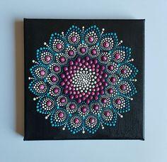 Mandala dot painting canvas 8x8 inch canvas 20x20cm acrylic