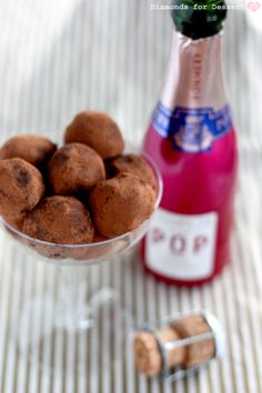 Champagne Truffles ~ with variations in strawberry & white chocolate   recipes via Diamonds for Dessert