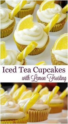 Tea Cupcakes with Lemon Frosting Recipe- a cupcake recipe for iced tea ...