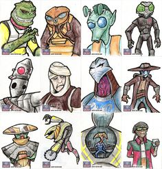 Star Wars Galaxy Sketch Cards - 02