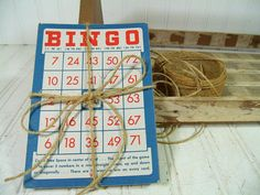 Vintage Bingo Cards Collection of 25  Aged Paper by DivineOrders, $16.00