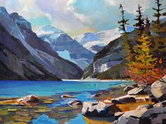 Lefroy from Louise 30 x 40, Lake Louise, Alberta, Canada