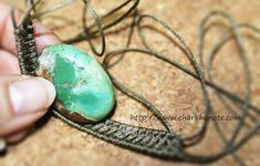 マクラメ 天然石 石包み