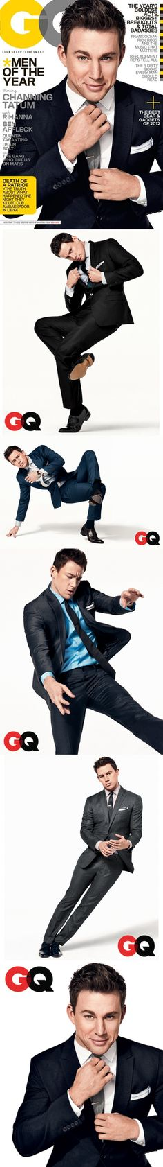 Channing Tatum for the December American edition of GQ