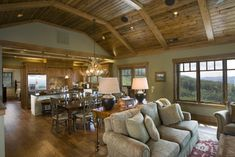 Pole barn house living room