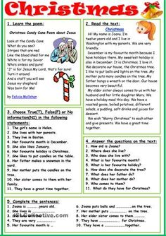 "Five exercises to speak on the topic ""Christmas'. Key is included. Thank you!!!! - ESL worksheets"