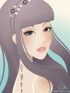 Princess J by Helen Huang, via Behance