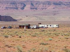 Trailer on navajo land.  Most of the time no electricity, haul water in.